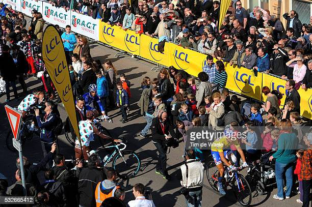 72th Paris - Nice 2014 / Stage 3 BOUHANNI Nacer Yellow Leader Jersey / Illustration Illustratie / Start Departure Vertrek / Shadow Hombre Schaduw /...