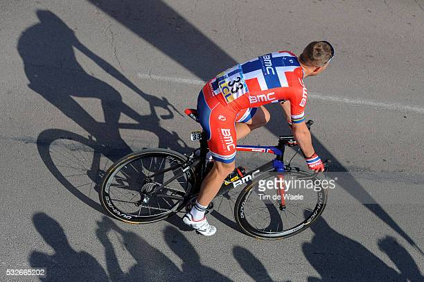 72th Paris - Nice 2014 / Stage 3 HUSHOVD Thor / Illustration Illustratie / Shadow Hombre Schaduw / Public Publiek Spectators / Toucy - Circuit De...