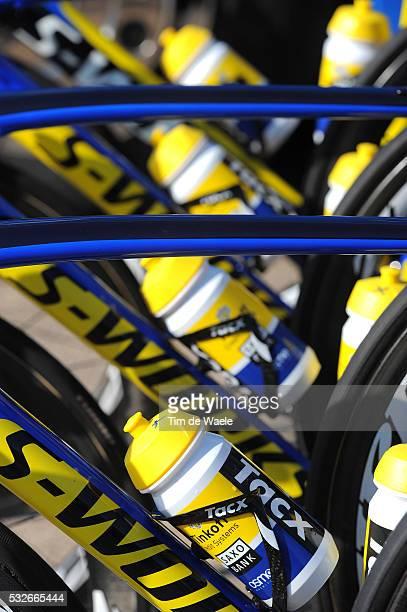 72th Paris - Nice 2014 / Stage 3 Illustration Illustratie / Tacx Bottle Bidons Drinkbus / Specialized Bike Velo Fiets / Team Tinkoff Saxo / Toucy -...