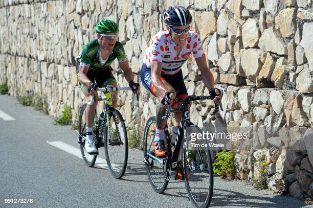 72Th Paris Nice 2014 Stage 6 Chavanel Sylvain Mountain Jersey Voeckler Thomas / SaintSaturninLesAvignon Fayence / Pn Etape Rit Parijs / Tim De Waele
