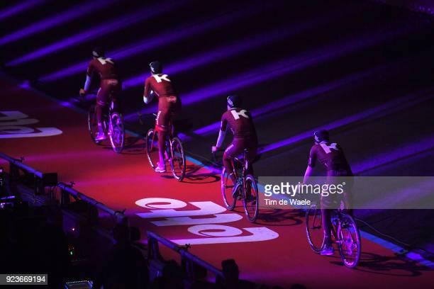 73rd Omloop Het Nieuwsblad 2018 / Men Jenthe Biermans of Belgium / Reto Hollenstein of Switzerland / Viacheslav Kuznetsov of Russia / Marco Mathis of...