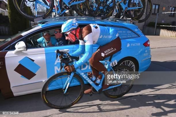 73rd Omloop Het Nieuwsblad 2018 / Men Julien Duval of France / Team AG2R La Mondiale of France / Car / Gent Ninove / Flanders Classics /