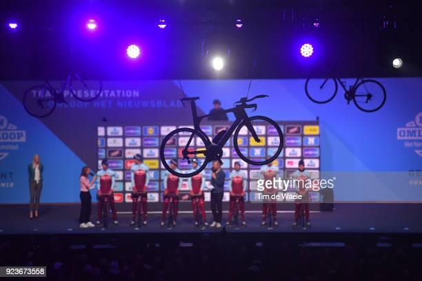 73rd Omloop Het Nieuwsblad 2018 / Men Start / Podium / Jenthe Biermans of Belgium / Reto Hollenstein of Switzerland / Viacheslav Kuznetsov of Russia...