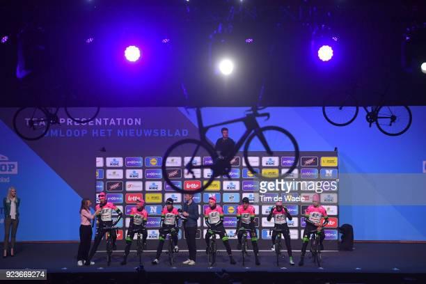 73rd Omloop Het Nieuwsblad 2018 / Men Start / Podium / Sep Vanmarcke of Belgium / Matti Breschel of Denmark / Sebastian Langeveld of The Netherlands...