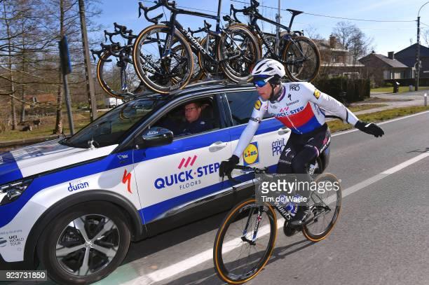 73rd Omloop Het Nieuwsblad 2018 / Men Zdenek Stybar of Czech Republic / Team QuickStep Floors of Belgium / Car / Gent Ninove / Flanders Classics /