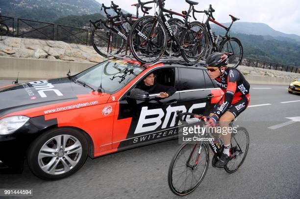 73Th Paris Nice 2015 Stage 6/Dillier Silvan Car Voiture Auto Team Bmc Sportsdirector /Vence Nice / Pn Etape Rit Parijs / Tim De Waele