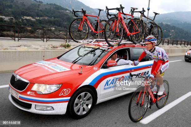 73Th Paris Nice 2015 Stage 6/Spilak Simon Car Voiture Auto Team Katusha Sportsdirector/Vence Nice / Pn Etape Rit Parijs / Tim De Waele