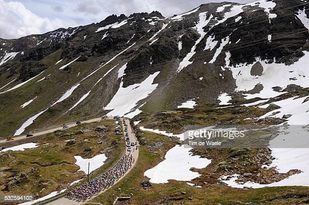 75th Tour de Suisse / Stage 2 Illustration Illustratie / Peleton Peloton / NUFENENPASS 2478m / Mountains Montagnes Bergen / Snow Neige Sneeuw /...