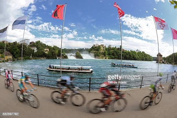 75th Tour de Suisse / Stage 8 Peleton Peloton / NEUHAUSEN AM RHEINFALL / Landscape Paysage Landschap / Illustration Illustratie / Waterval Waterfall...