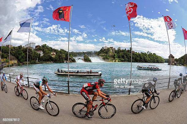 75th Tour de Suisse / Stage 8 Peleton Peloton / NEUHAUSEN AM RHEINFALL / Landscape Paysage Landschap / Illustration Illustratie / Waterval Waterfall...