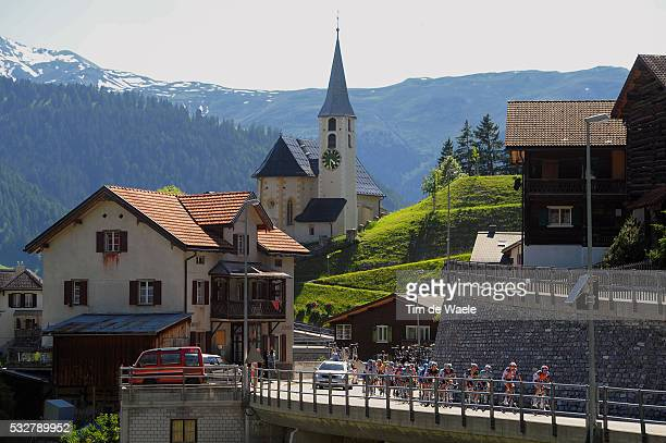 76th Tour of Swiss / Stage 8 Illustration Illustratie / Peleton Peloton / PEIST Church Eglise Kerk / Landscape Paysage Landschap / Bischofszell -...