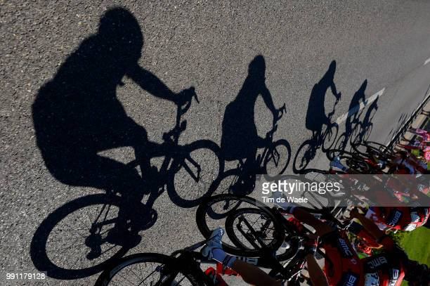 77Th Tour Of Swiss 2013, Stage 6 Illustration Illustratie, Silhouet, Shadow Hombre Schaduw, Bmc Racing Team / Leuggern - Meilen / Rit Etappe /Tim De...