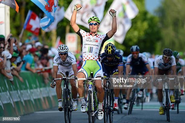 77th Tour of Swiss 2013 / Stage 8 Arrival / SAGAN Peter Celebration Joie Vreugde / BENNATI Daniele / GILBERT Philippe / Zernez Bad Ragaz / Tour de...