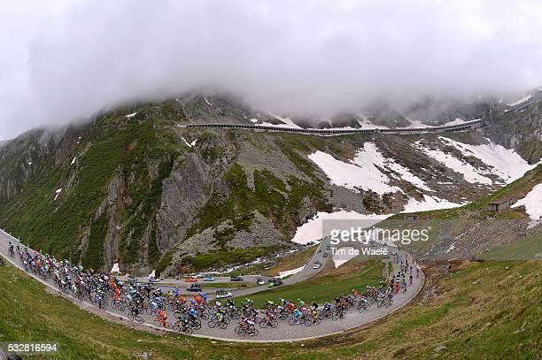 78th Tour of Swiss 2014 / Stage 2 Illustration Illustratie / Gotthardpass Mountains Montagnes Bergen / Peleton Peloton / Landscape Paysage Landschap...