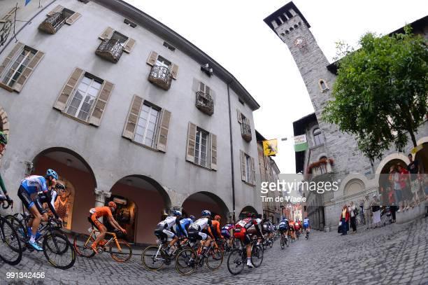 78Th Tour Of Swiss 2014 Stage 2 Illustration Illustratie Peleton Peloton Bellinzona City Ville Stad Church Eglise Kerk Bellinzona Sarnen / Etappe Rit...