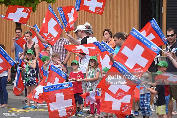 79th Tour of Swiss 2015 / Stage 2 Illustration Illustratie/ Public Publiek Spectators Fans Supporters / Children Enfant Kinderen/ Swiss Flag/...