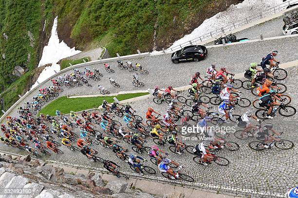 79th Tour of Swiss 2015/ Stage 3 Illustration Illustratie/ Peloton Peleton/ Landscape Paysage/ Mountais/ Snow/ Gotthardpass / Quinto - Olivone Tour...