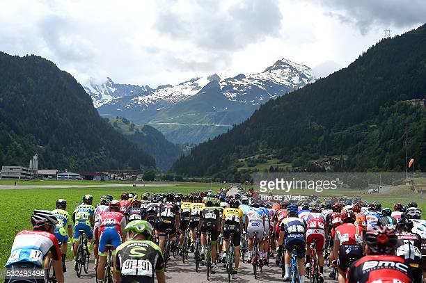79th Tour of Swiss 2015 / Stage 3 Illustration Illustratie / Start Quinto / Peleton Peloton / Mountains Montagnes Bergen / Landscape Paysage...