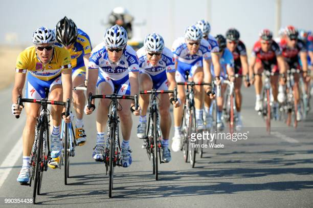 7Th Tour Of Qatar Stage 2Matteo Tosatto Yellow Jersey Wilfried Cretskens Steven De Jongh Tom Boonen Maarten Wynants Team Quick Step Qst /Al Zubarah...