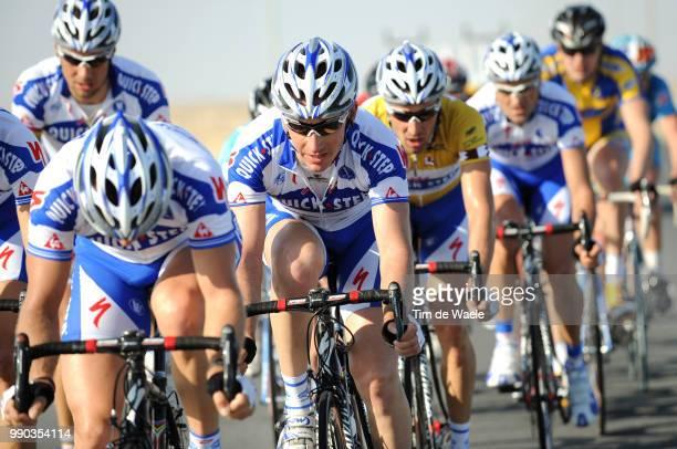 7Th Tour Of Qatar Stage 2Wilfried Cretskens Matteo Tosatto Yellow Jersey Tom Boonen Team Quick Step Qst /Al Zubarah Doha Golf Club Tim De Waele