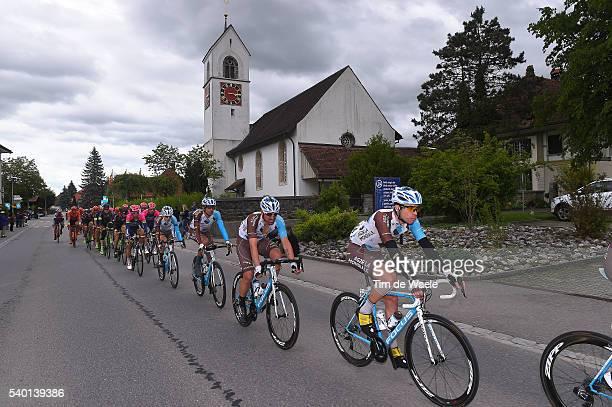 80th Tour of Swiss 2016 / Stage 4 Pierre LATOUR / Sebastien TURGOT / Team AG2R LA MONDIALE / Illustration / Landscape / City / Church / Rheinfelden -...