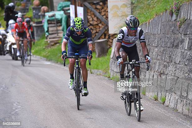 80th Tour of Swiss 2016 / Stage 5 Winner ANACONA GOMEZ / Natnael BERHANE / BrigGlis Cari 1626m / TDS /