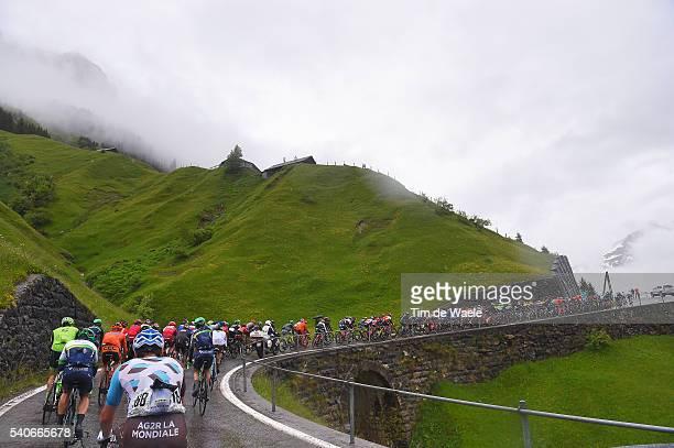 80th Tour of Swiss 2016 / Stage 6 Sebastien TURGOT / Illustration / Landscape / Peloton / Rain / Mountains / Klausenpass 1952m / Weesen - Amden 1255m...
