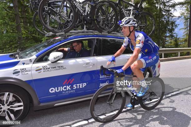 81st Tour of Switzerland 2017 / Stage 5 Zdenek STYBAR / Rik VAN SLYCKE Sportsdirector Team QuickStep Floors / Bex Cevio 424m / TDS/