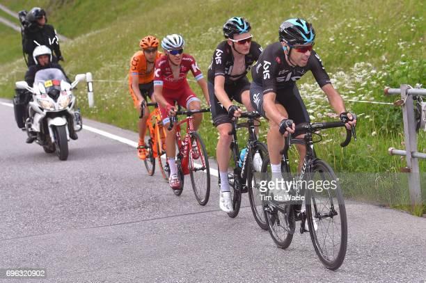 81st Tour of Switzerland 2017 / Stage 6 Philip DEIGNAN / Tao GEOGHEGAN HART / Matvey MAMYKIN / Jan HIRT / Locarno La Punt Chamuesch 1695m / TDS/