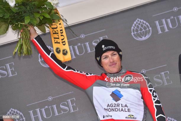 81st Tour of Switzerland 2017 / Stage 7 Podium / Mathias FRANK Red Best Swiss Rider Jersey Celebration / Zernez SoldenTiefenbachferner 2780m / TDS/