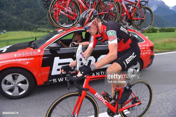 81st Tour of Switzerland 2017 / Stage 7 Rohan DENNIS / Jackson STEWARD Sportsdirector Team BMC Racing Team / Car / Shoe change/ Fizik Shoes/ Zernez...
