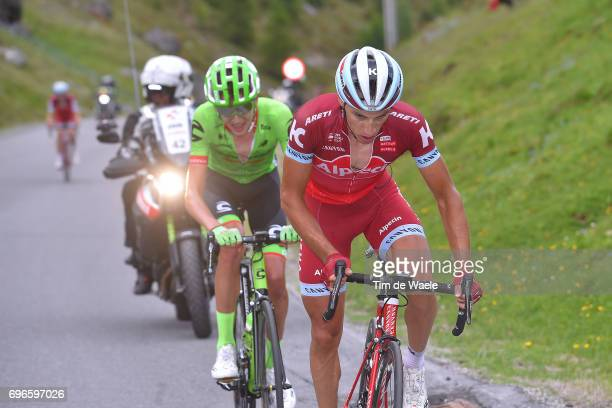 81st Tour of Switzerland 2017 / Stage 7 Simon SPILAK / Joe DOMBROWSKI / Zernez SoldenTiefenbachferner 2780m / TDS/