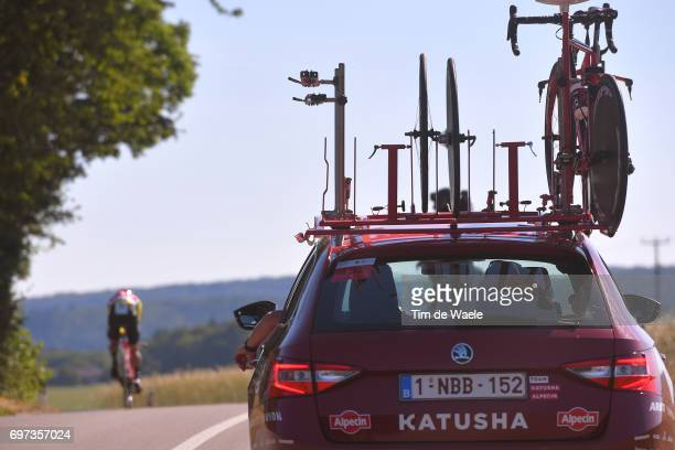 81st Tour of Switzerland 2017 / Stage 9 Simon SPILAK Yellow Leader Jersey/ Team Katusha Alpecin / Car / Bike / Schaffhausen Schaffhausen / ITT/...