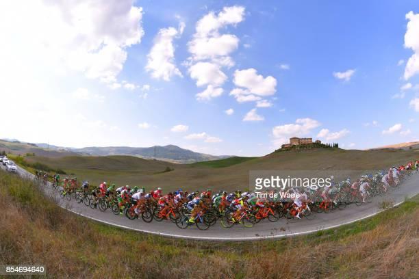 89th Giro Della Toscana 2017 / Stage 2 Landscape / Peloton / Lajatico Volterra 531m / Memorial Alfredo Martini / GDT /