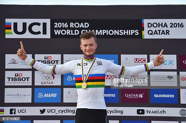 89th Road World Championships 2016 / ITT Men U23 Podium / Marco MATHIS Gold Medal/ Celebration / The Pearl Qatar The Pearl Qatar / Individual Time...