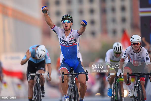 89th Road World Championships 2016 / Men Elite Arrival / Peter SAGAN Celebration / Mark CAVENDISH / Tom BOONEN Disappointment / Aspire Zone The Pearl...