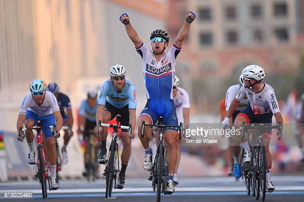 89th Road World Championships 2016 / Men Elite Arrival / Peter SAGAN Celebration / Mark CAVENDISH / Tom BOONEN / Giacomo NIZZOLO / Aspire Zone - The...
