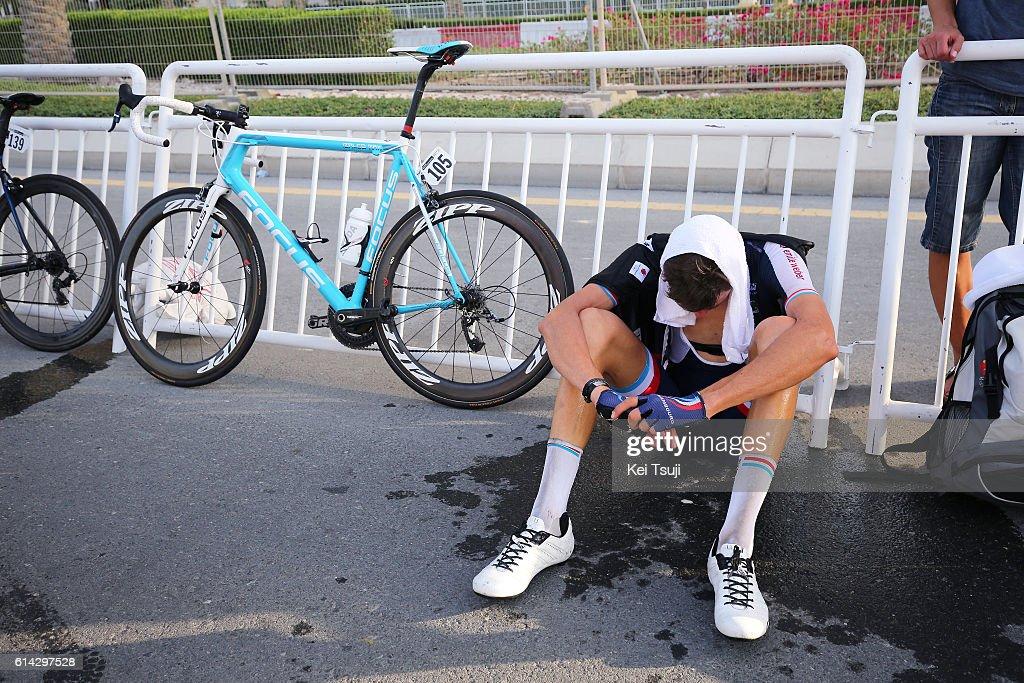 89th Road World Championships 2016 / Men U23 Road Race Arrival / Kevin GENIETS (Lux) Disappointment / Hot Weather / The Pearl Qatar - The Pearl Qatar (166km)/ Men U23 / WC /