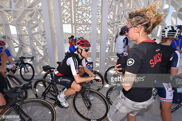 89th Road World Championships 2016 / Women Elite Start / Nicole HANSELMANN / Cooling Down Vest / Qatar Foundation The Pearl Qatar / / WC /