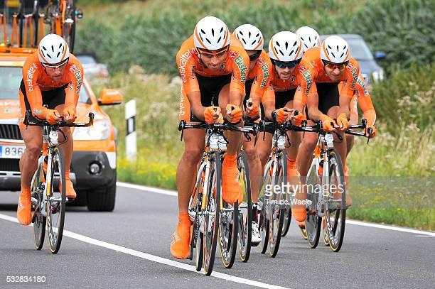 8th Eneco Tour 2012 / Stage 2 TTT Team Time Trial Contre la Montre par Equipe Ploegentijdrit/ Victor Cabedo / Jon Izaguirre / Miguel Minguez / Jorge...