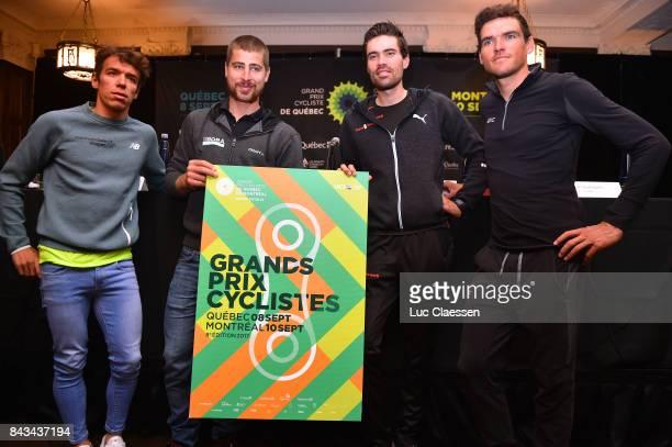 8th Grand Prix Cycliste de Quebec Monteral 2017 / PC Rigoberto URAN / Peter SAGAN / Tom DUMOULIN / Greg VAN AVERMAET / Press Conference / Grand Prix...