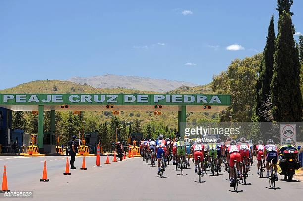 8th Tour de San Luis 2014 / Stage 7 Illustration Illustratie / Peleton Peloton / Peage Peaje Toll / Landscape Paysage Landschap / San Luis - Terrazas...
