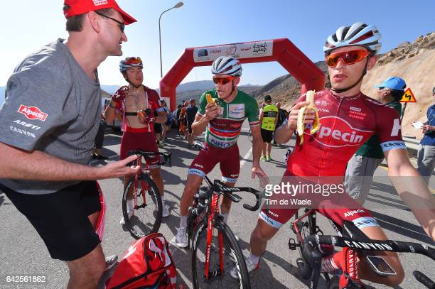 8th Tour of Oman 2017 / Stage 5 Arrival / Viacheslav KUZNETSOV / Alexander KRISTOFF Green Sprint Jersey/ Jenthe BIERMANS / Banana/ Sama il Jabal Al...