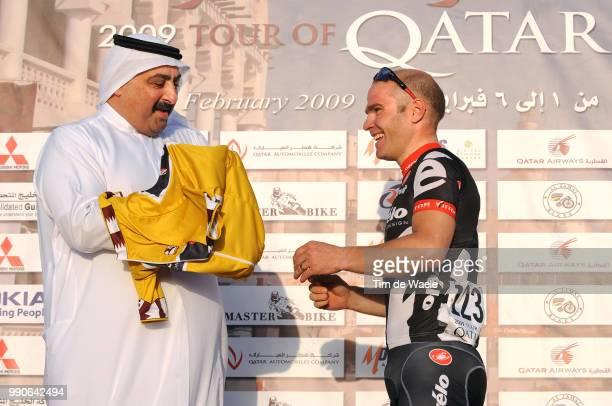 8Th Tour Of Qatar, Stage 2Podium, Hammond Roger Yellow Jersey, Celebration Joie Vreugde, Sheikh Khalid Bin Ali Bin Abdullah Al Thani President Qatar...