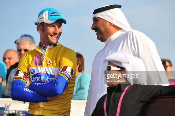 8Th Tour Of Qatar, Stage 6Podium, Tom Boonen Yellow Jersey, Sheikh Khalid Bin Ali Bin Abdullah Al Thani , Sealine Beach Resort - Doha Corniche , Rit...