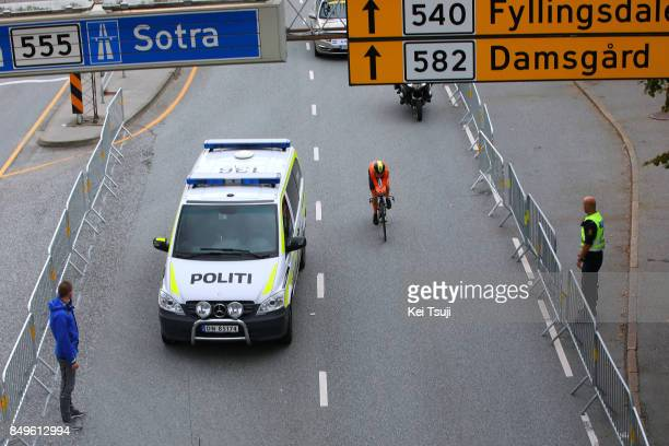 90th Road World Championships 2017 / ITT Women Elite Annemiek VAN VLEUTEN / Police Car / Bergen - Bergen / Individual Time Trial / ITT / Bergen / RWC...