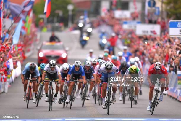90th Road World Championships 2017 / Men Elite Road Race Arrival / Sprint / Peter SAGAN / Alexander KRISTOFF / Michael MATTHEWS / Matteo TRENTIN /...