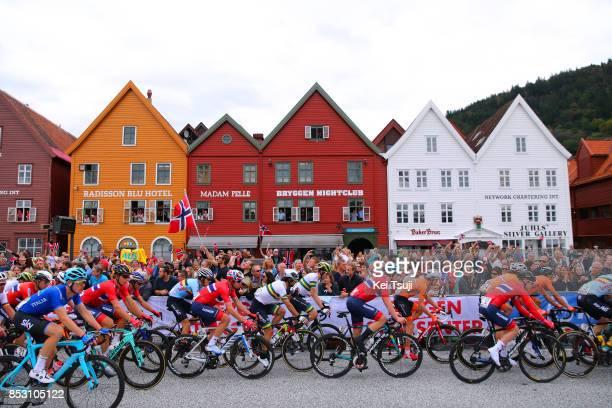 90th Road World Championships 2017 / Men Elite Road Race Alexander KRISTOFF / Truls KORSAETH / Michael MATTHEWS / Peloton / Landscape / Bergen Bergen...