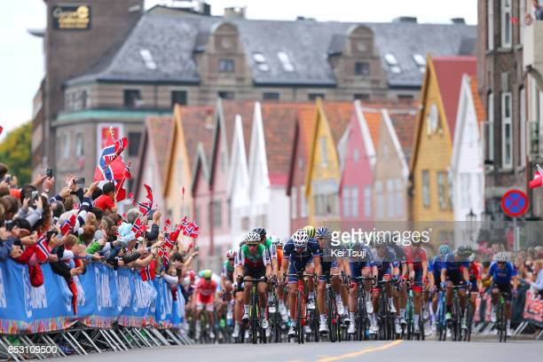 90th Road World Championships 2017 / Men Elite Road Race Peloton / Landscape / Bergen Bergen / RR / Bergen / RWC /