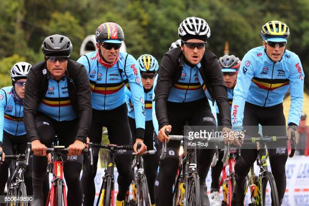 90th Road World Championships 2017 / Training Road Race Greg VAN AVERMAET / Oliver NAESEN / Jasper STUYVEN / Tiesj BENOOT / Team Belgium / Training /...